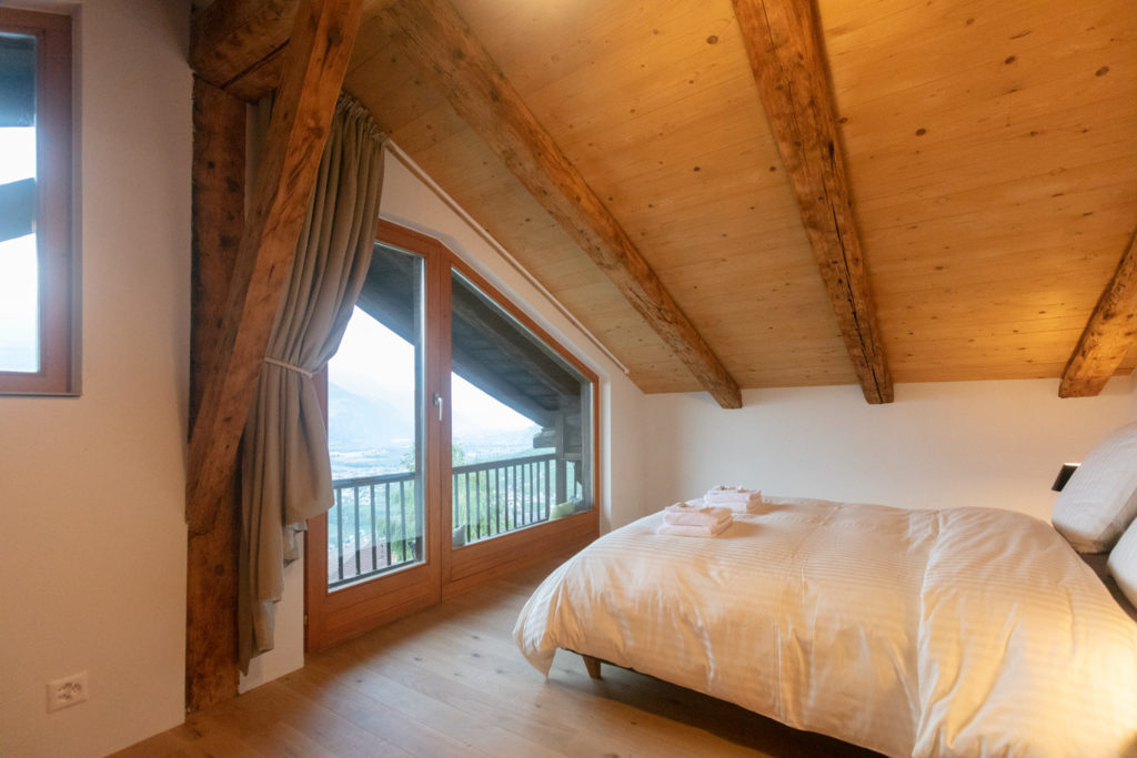 The SUITE BALENO with incredible view of the Rhone Valley.